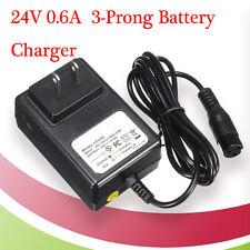 24V 0.6A 3PRONG ELECTRIC SCOTTER BATTERY CHARGER FOR RAZOR E100 E125 E500S PR200