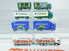 AU892-1# 4x Herpa H0 LKW/Véhicule routier MAN: Sanfoura+Erdinger+Clausthaler+