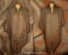 Écharpes et châles beige pour femme en 100% laine   eBay 42e95387420