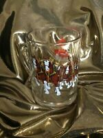 Vintage Budweiser Clydesdale Holiday Winter Beer tankard Mug  Drinking Glass
