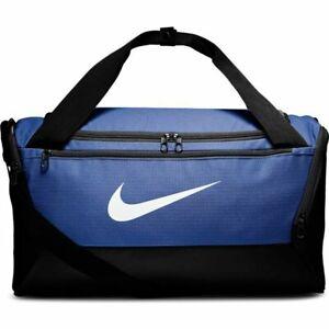 Nike Brasilia Duffel Bag Small Black Royal Blue BA5957-480