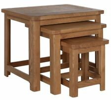 Heart of House Kent Nest of 3 Solid Oak & Oak Veneer Tables
