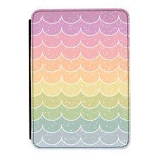 Pastel Rainbow Clouds Design Fun Cute iPad Mini 1 2 3 PU Leather Flip Case Cover