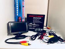 "Wireless HD Car Rear View Reversing Camera IR Night Vision Kit +4.3"" LCD Monitor"