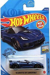 2020 Hot Wheels Mainline #144 - 2019 Corvette ZR1 Convertible C7 (Blue) GHF01