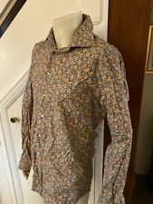 Men's Gino Marcello Flowery Long Sleeved  Shirt Size M