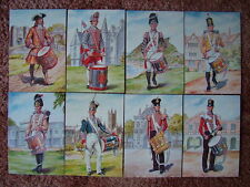 8 Card Set No 32 Military Postcards DRUMMERS PRINCESS OF WALES REG. Mint cond.