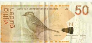 Curacao Netherlands Antilles 50 Guilders Gulden Banknote St. Martin Maarten