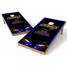 Galaga Retro Video Game Cornhole Wrap Bag Toss 3M Cornhole Decal Set
