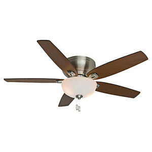 Hunter Fan Company 54101 Durant Indoor 54 Inch Ceiling Fan with 1 Light, Nickel