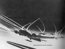 """Formation of B-17 Bombers over Germany 8""""x 10"""" World War II Photo Picture #202"""