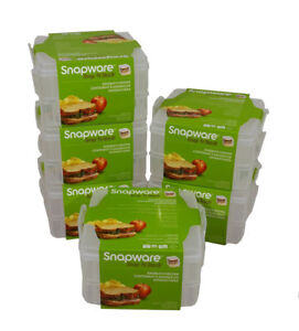 Snapware Snap 'N Stack 2 Layer Sandwich Keeper ~ Set of 6 ~ Perfect for Lunches!