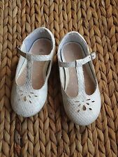 Next - toddler girls - white - party christening wedding shoes - size 5
