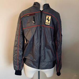 ORIGINAL 1980's STYLE AUTO COMPETITION SCUDERIA FERRARI F1 TEAM JACKET COAT L