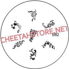 Stamping plaque pochoir B82 pour vernis Konad nail art