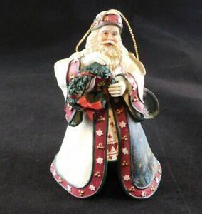 2003 Thomas Kinkade Ashton-Drake Christmas Journeys End Old World Santa Ornament