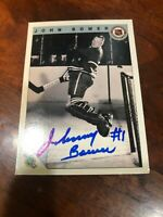 1992 Ultimate Original 6 #32 Johnny Bower Autographed Hand Signed Card Toronto