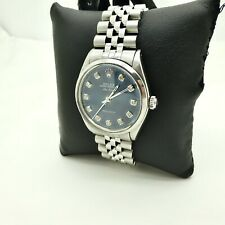 MENS ROLEX 1320 STAINLESS BLUE,DIAMOND DIAL OYSTER AIR KING PRECISION WRISTWATCH