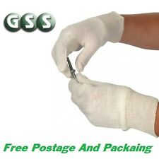 12x Pairs Cotton Glove Liners, Ideal For Lining Work Gloves, Inspection Gloves