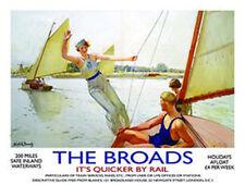 The Broads Norfolk Yachts Sailing Boat Lake River Fridge Magnet