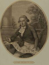 Henry William Bunbury (1750-1811) -  Engraving, Portrait of Henry Bunbury Esq.