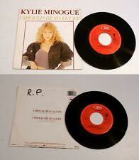 KYLIE MINOGUE * I SHOULD BE SO LUCKY *  VINYLE 45Tr  VG++  1987