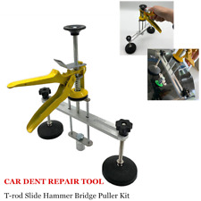 Car Body Paintless Dent Removal Repair Tool T-rod Slide Hammer Bridge Puller Kit
