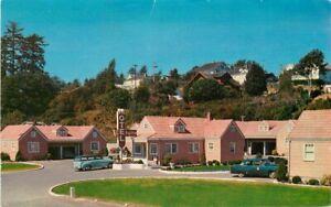 Astoria Oregon Bay View Motel Automobiles Mood roadside Postcard 21-6663