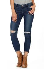 $239 PAIGE Verdugo Step Hem Ankle Ultra Skinny Jeans Dedee Destructed 32 SOLDOUT