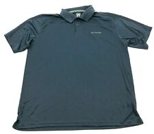 Columbia Shirt Size Extra Large XL Blue Short Sleeve Polo Dry Fit Relaxed Men's