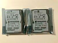 """Lote 2 X HGST HUC106060CSS600, 600GB 10K SAS 2.5"""" HDD ENTERPRISE FORMAT 512"""