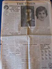 The Times 28/7/81 Newspaper - Prince Charles & Princess Diana Wedding Rehearsal