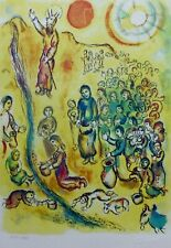 MARC CHAGALL EXODUS Moses strikes the rock 84 SIGNED HAND NUMBERED LITHOGRAPH