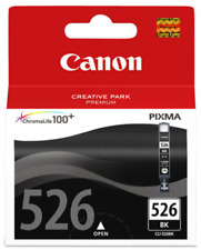 CANON CLI-526 Black Ink Cartridge. NEW GENUINE SEALED PLUS FREE P&P