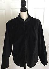 MOSSIMO STRETCH Black Velvet Jacket Women's PLUS Size 20W Oriental Style Lined