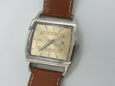 Next Men's Watch With Brown Leather Strap