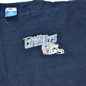 Dallas Cowboys Vintage Mens L Blue Sweatshirt Crew Neck Champion NWT 1991 NEW