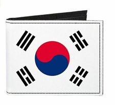 Republic Of South Korea Country Flag Canvas Bi Fold Wallet ID Card Holder New
