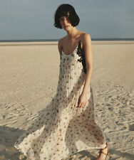 ZARA Studio Floral Printed Dress Crochet Lace Lingerie Boho Size M Ref 2698/797
