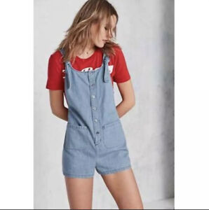 XS Urban Outfitters BDG Andy Chambray Shortalls Overall Romper