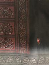 Black Gray Red Sari Indian Saree Bollywood Fabric Panel Drape
