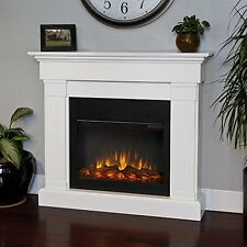 Real Flame Crawford Slim Line Electric Fireplace in White 8020E-W NEW