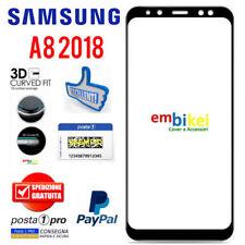 Pellicola Vetro Temperato 3D CURVO Samsung GALAXY A8 2018 Protezione Completa