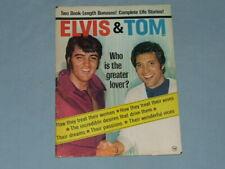 """1969 All Elvis & Tom Jones Magazine """"Elvis & Tom"""""""