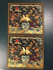AN EXCELLENT AND COMPLETE SET CHINESE CIVIL OFFICIAL RANK BADGE, QING DYNASTY