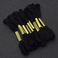 Black Cross Stitch Embroidery Thread  Sewing Skeins Craft 8 Meters Long