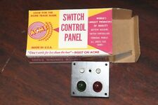 ACME #444 Switch Control Panel With Green and Red Light For One (1) Switch