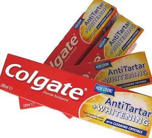 PACK OF  4 COLGATE ANTI-TARTAR WHITENING TOOTHPASTE 100ML SIZE FREE POST PACK