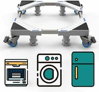 SEISSO Washing Machine Appliance Moving Dolly Adjustable Base Stand w/ Wheels