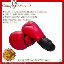 AU Children Kids Sparring Training Gloves MMA Kick Boxing Thai Punching Gloves N